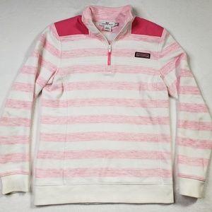 Vineyard Vines XXS pink stripe pullover sweatshirt